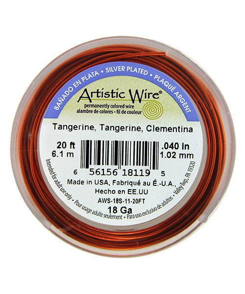 WR36118 = ARTISTIC WIRE RETAIL SPOOL SP TANGERINE 18ga 20 FEET