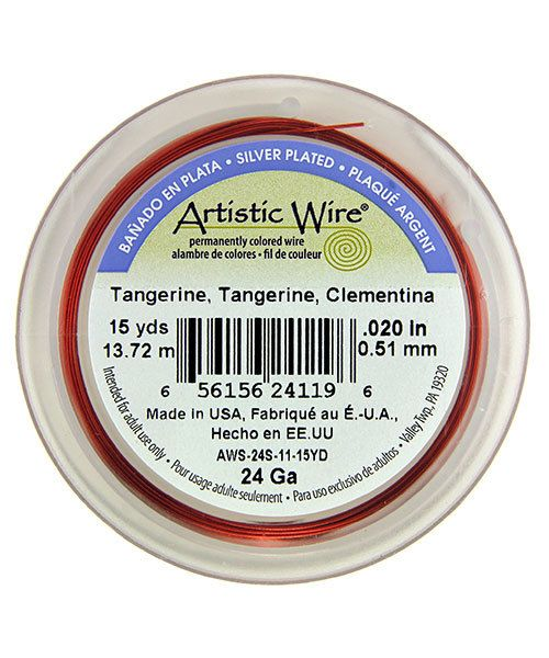 WR36124 = ARTISTIC WIRE RETAIL SPOOL SP TANGERINE 24ga 15 YARDS