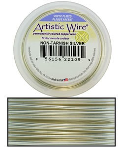 WR36026 = ARTISTIC WIRE RETAIL SPOOL SP TARNISH RESISTANT SILVER 26ga 30 YARDS