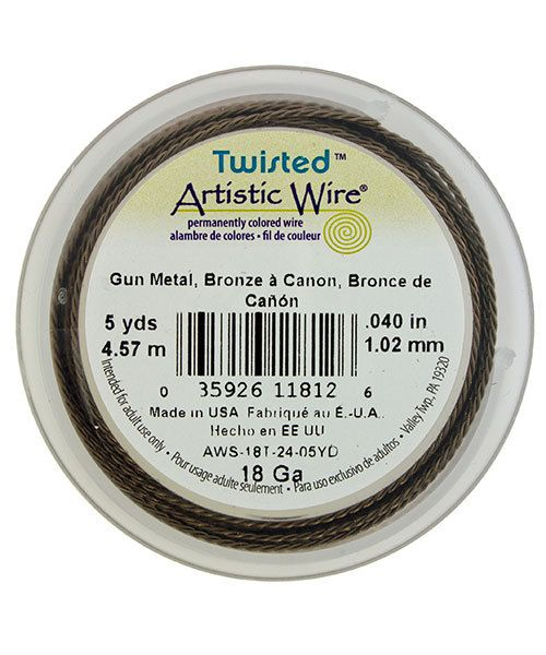 WR52918 = ARTISTIC WIRE RETAIL SPOOL TWIST Antique Brass 18ga 5 yards **CLOSEOUT**