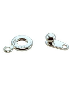 916SP-30 = Ball & Socket Clasp 6mm - Silver Plated (Pkg of 6)
