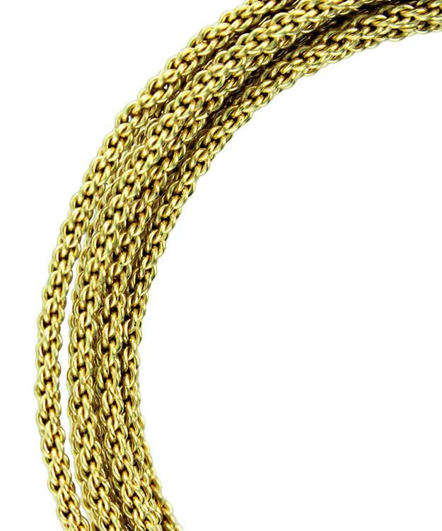 Wr48212 Braided Tarnish Resistant Brass Color Artistic