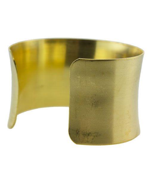 MSBR1025 = Brass Bracelet Cuff Concave 1-1/2'' Wide