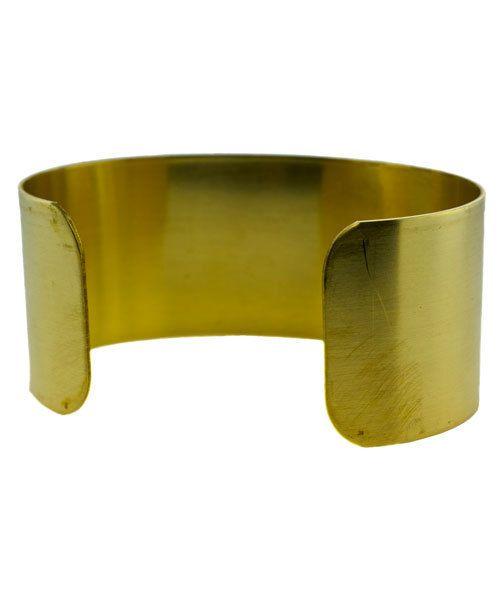 MSBR1004 = Brass Bracelet Cuff Flat 1'' Wide