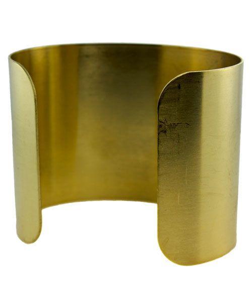 MSBR1006 = Brass Bracelet Cuff Flat 2'' Wide