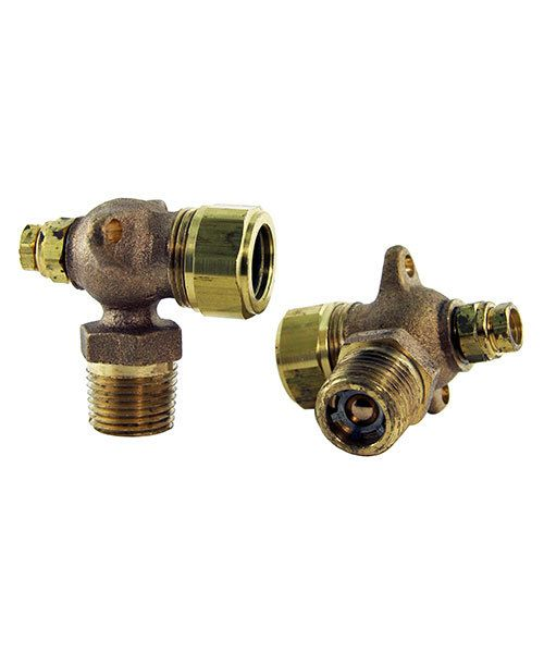 Cl brass fitting for sight glass hoffman jel