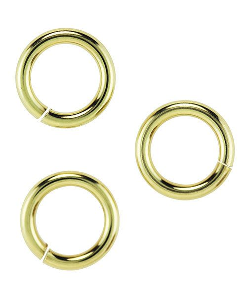 900BR-10064 = Brass Jump Ring 14ga .064 x .394'' (1.63 x 10.0mm) (Pkg of 50)