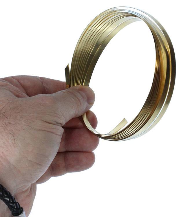 BPBW01 = Brass Plain Bezel Wire 3/16'' x 32ga (10ft)