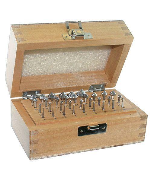 19.319 = Bearing Bur Set 90deg 33pcs (0.9 to 11.1mm) HS Steel