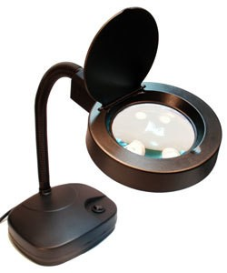 LM1210 = Black 2.5X Magnifier Desk Lamp with 60 LED Bulbs
