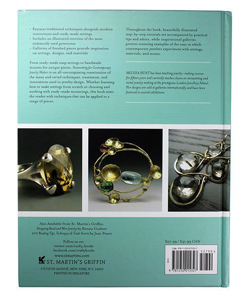 BK5378 = BOOK - STONESETTING FOR CONTEMPORARY JEWELRY MAKERS by Melissa Hunt