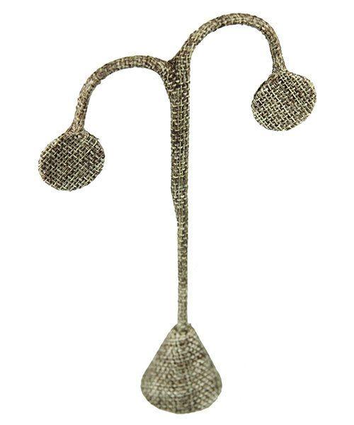 DER3249 = Burlap Earring Display 6-1/4'' high  (Pkg of 3)