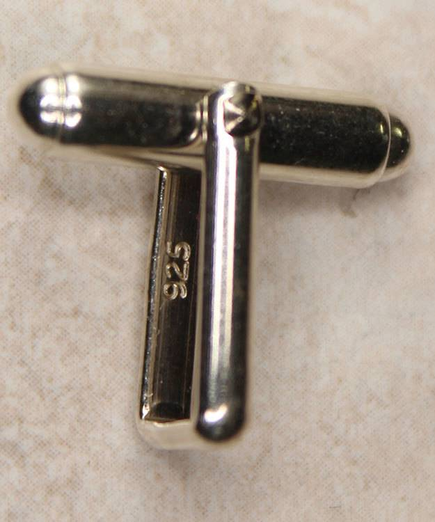443S-02 = Cuff Link Back Sterling Silver (Each)