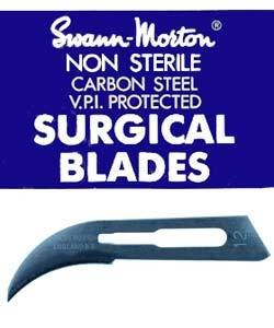 39.259 = Curved Knife Blades for Mold Cutting - Swann Morton (Pkg of 10)