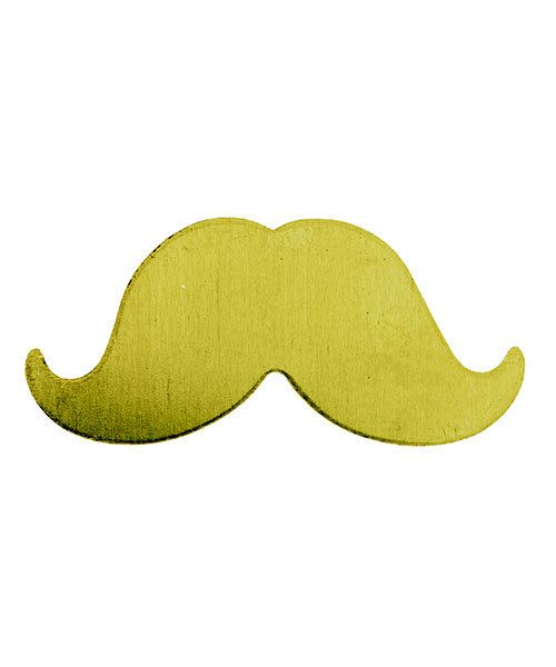 MSBR59524 = BRASS SHAPE - LARGE MUSTACHE 24ga (Pkg of 6)