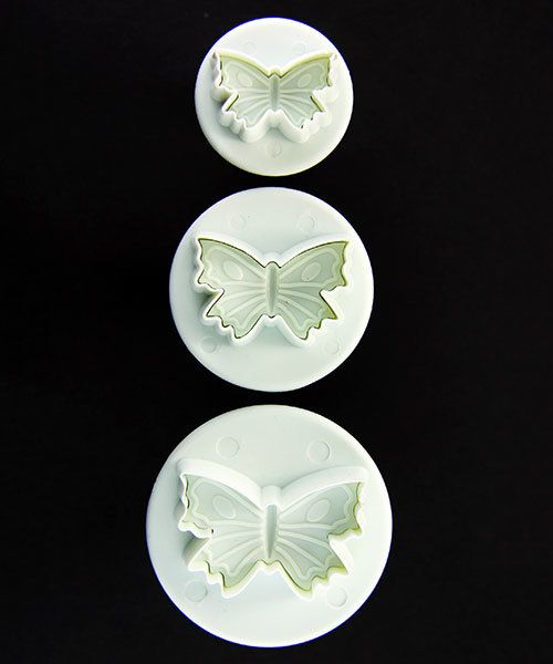 MC1906 = Butterfly Pattern Clay Cutters (Pkg of 3) By Lisa Pavelka