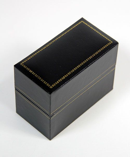 DBX1308 = Double Door Leatherette Watch/Bracelet Box with Packer