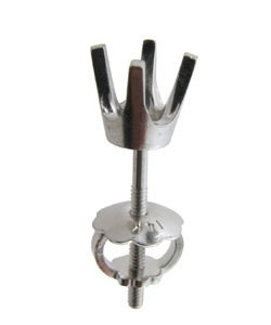100W-20 = Earring Round 4 Prong Screwback 3.8mm 14KW