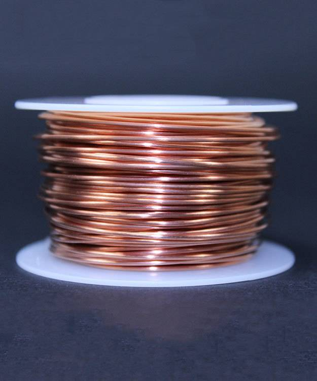 CHRW20H = Copper Wire Half Round 20ga 0.81mm Half Hard (Approx. 166ft)