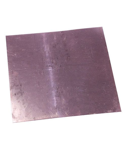 CS28-6 = Copper Sheet 28ga  6'' x 6'' 0.32mm Thick