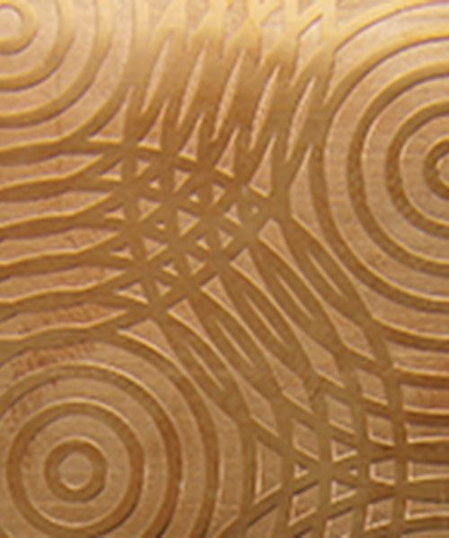 CSP3124 = Patterned Copper Sheet ''Sonar''  2'' x 6'' 24ga