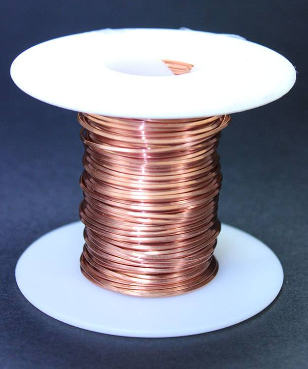 CSW18H = Copper Square Wire 18ga 1.02mm Half Hard (Approx. 38ft)