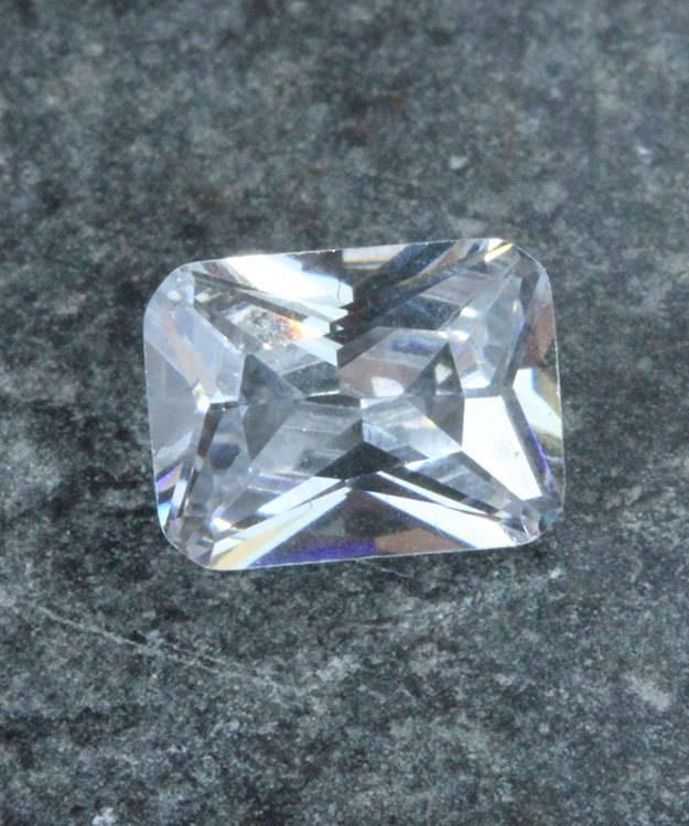 CZEM8X6 = Cubic Zirconia Emerald Shape 8x6mm (Pkg of 5)