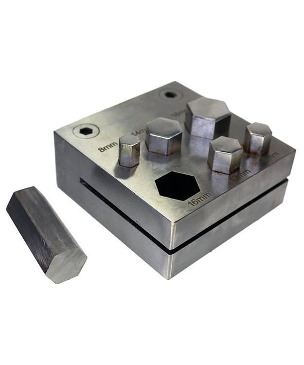 DA2405 = Hexagon Disc Cutter Set of Six Sizes 4mm to 18mm