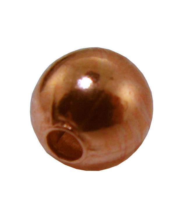 ABCU-05 = Copper Round Beads 5mm (Pkg of 100)