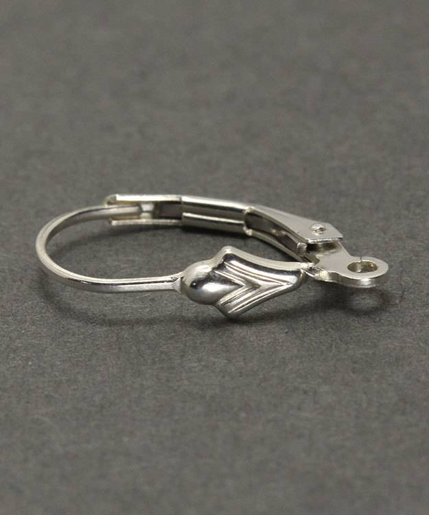 428S-03 = Leverback Sterling Silver with Tulip & Ring (Pkg of 6)