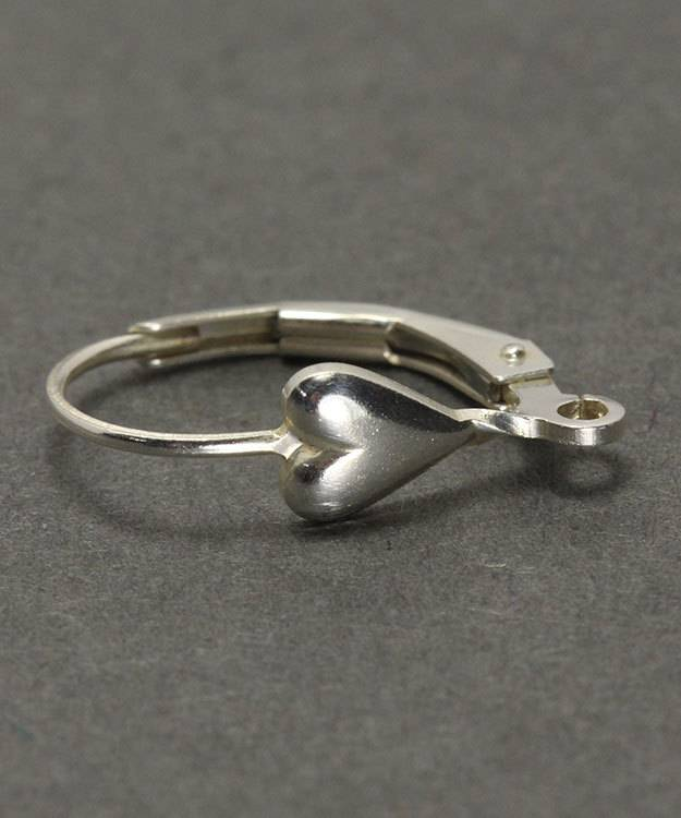 428S-05 = Leverback with Heart and Ring Sterling Silver (Each)