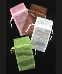 DBX1293M = Organza Drawstring Pouches Assorted Colors 3''x4'' (Dozen)