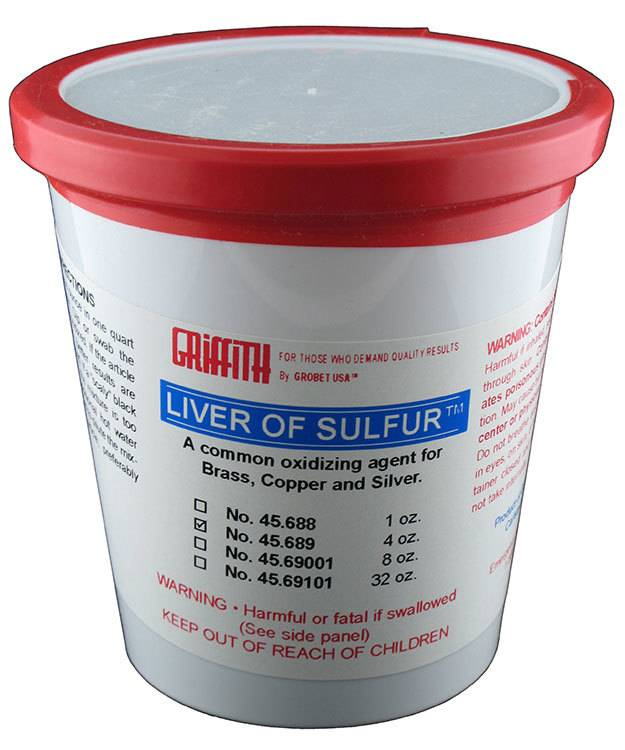 45.689 = Griffith Brand Liver of Sulfur 4oz