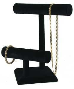 DCH1198 = VELVET BRACELET & NECKLACE T BAR DOUBLE 11''x10''