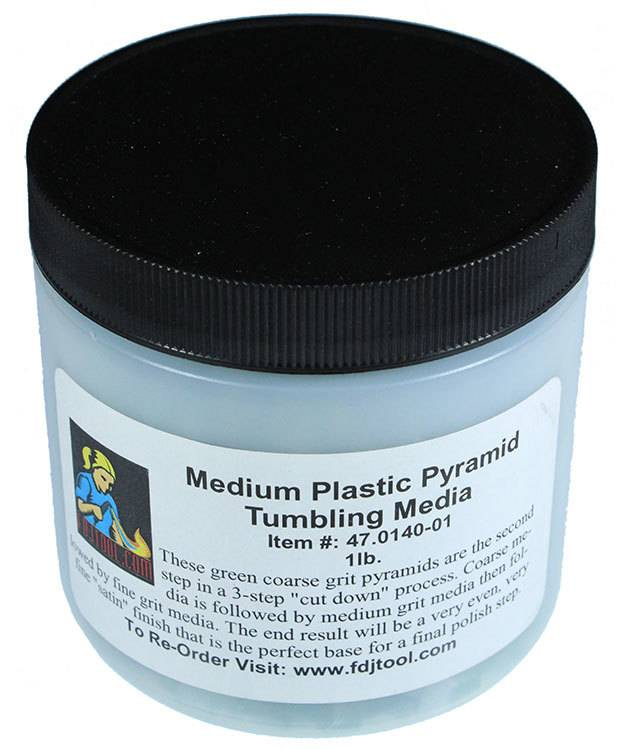 47.0140-01 = Tumbling Media Medium Plastic Pyramids (1lb)