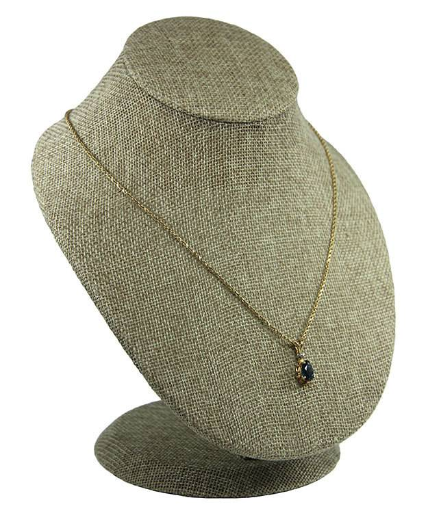 DCH3850 = Burlap Necklace Display 6-1/2'' x 6'' x 8'' high