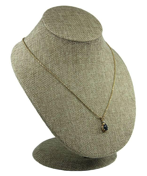 DCH3850 = Burlap Necklace Display 6-1/2'' x 6'' x 8'' high