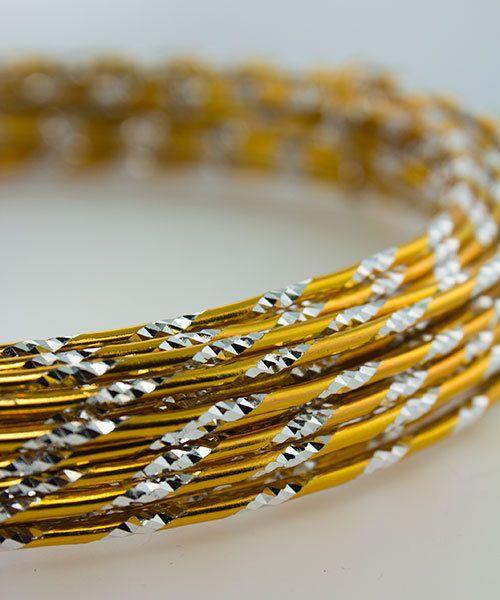 WR74112 = Diamond Cut Aluminum Wire GOLD COLOR 12ga 39 feet per Bag