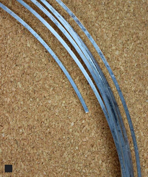 SSW14 = Square Sterling Wire 1.6mm 14ga Dead Soft (Sold per foot)