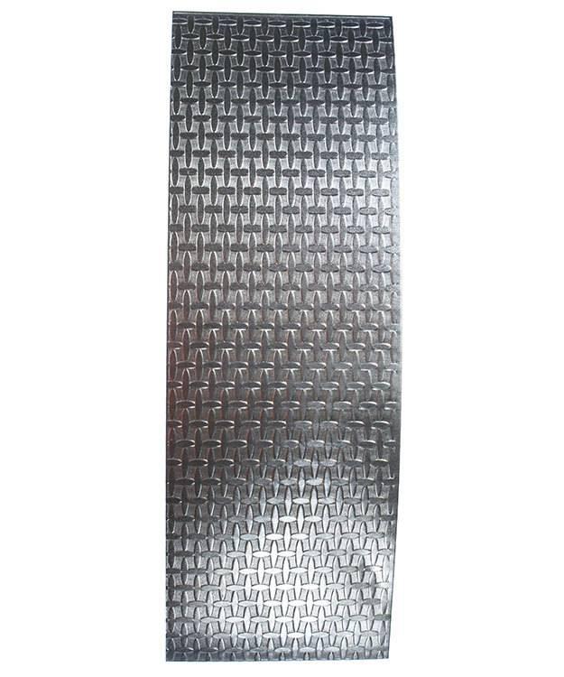 SSP4120 = Patterned Sterling Silver Sheet ''Wacky Windows'' 2'' x 6'' 20ga