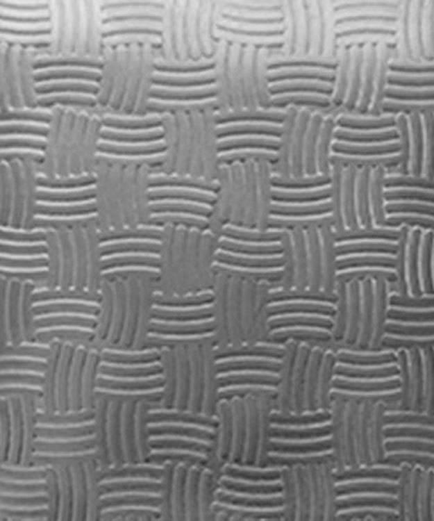 SSP3622 = Patterned Sterling Silver Sheet ''Basket'' 2'' x 6'' 20ga