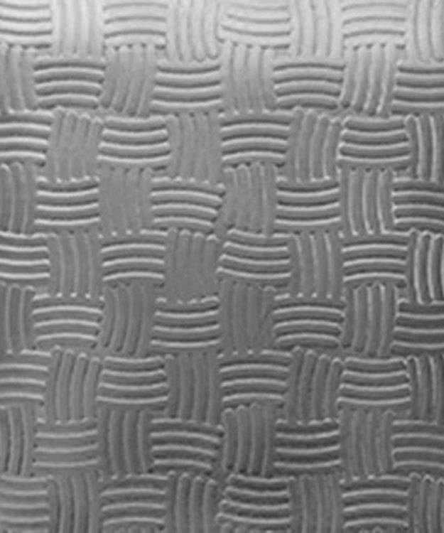 SSP3618 = Patterned Sterling Silver Sheet ''Basket'' 2'' x 6'' 18ga
