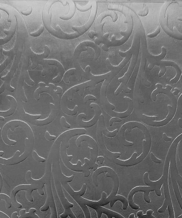 SSP3524 = Patterned Sterling Silver Sheet ''Vines'' 2'' x 6'' 24ga