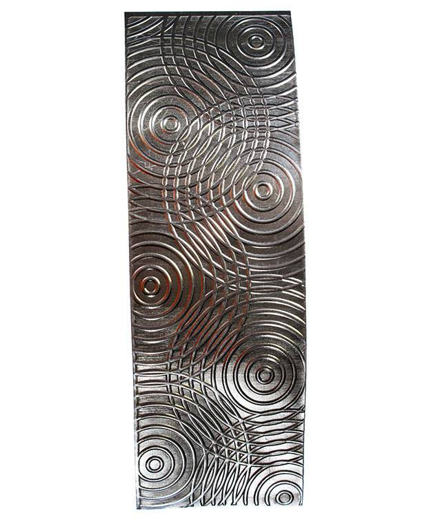 SSP3120 = Patterned Sterling Silver Sheet ''Sonar'' 2'' x 6'' 20ga