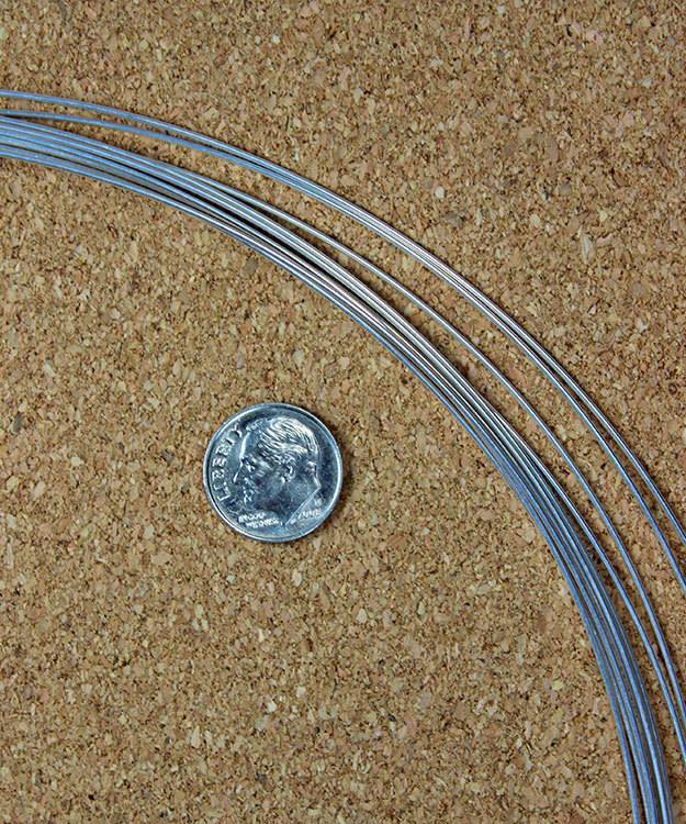 SRW19 = Round Sterling Wire 19ga (0.92mm) Dead Soft (Sold per foot)