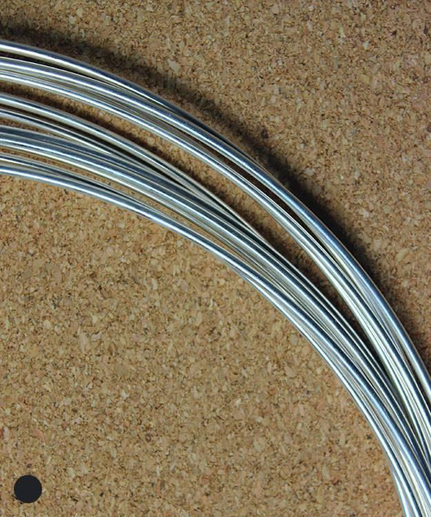 SRW12 = Round Sterling Wire 12ga (2.0mm) Dead Soft (Sold per foot)