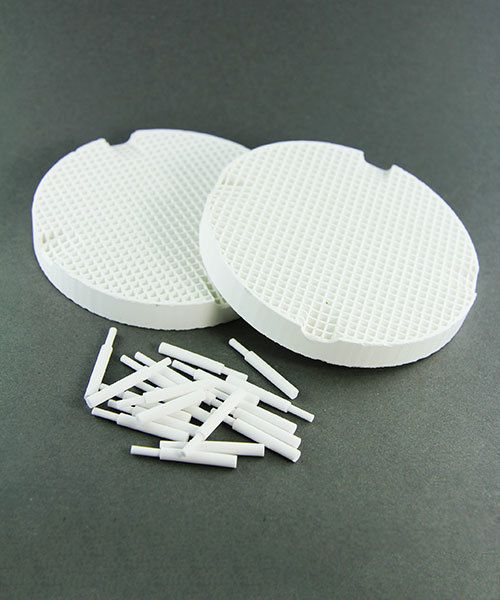 SO4444 = Mini Honeycomb Soldering Board - (2 Boards with Large Holes & Ceramic Pins)