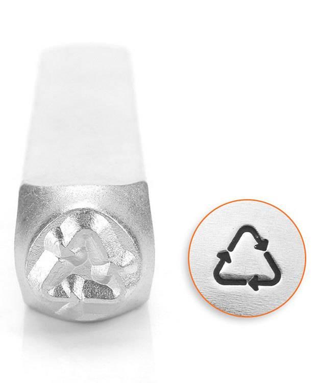 PN6524 = ImpressArt Design Stamp - Recycle Symbol 6mm