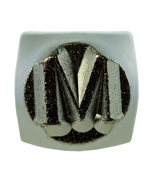 PN6493 = ImpressArt Design Stamp - Greek letter MU 6mm