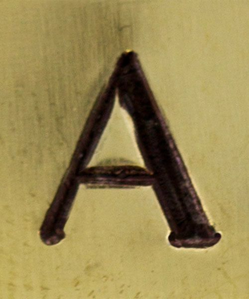 PN6482 = ImpressArt Design Stamp - Greek letter ALPHA 6mm